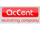 Логотип AcCent, рекрутинговое агентство